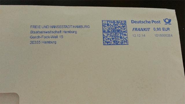 Briefe Richtig Frankieren Gewicht : Ermittlungspanne ii vergessene briefmarke gefährdet